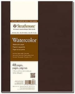 """Strathmore 400 Series Softcover Watercolor Art Journal, 8""""x5.5"""" 24 Sheets"""