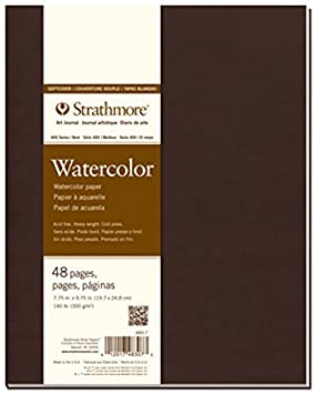 Pro-Art Strathmore Softcover Watercolor Journal, 8 by 5.5-Inch, 48 Pages 483-5