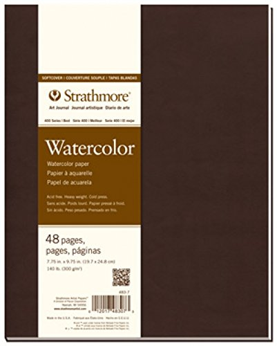 Strathmore 483-7 400 Series Softcover Watercolor Art Journal, 7.75''x9.75'' 24 Sheets by Strathmore