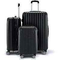 3Pc Luggage Suitcase Set with 3X Covers & TSA Lock