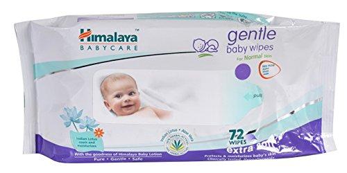 Himalaya gentle Baby Wipes (72Napkins of 2 packs)