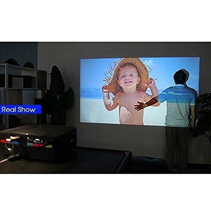 TOOGOO Proyector C80 720P Proyector PortáTil de Cine en Casa ...