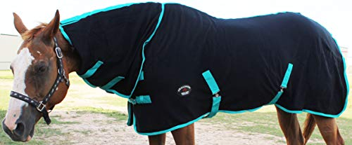 Challenger Horsewear 78'' Horse Sheet Polar Fleece Cooler Exercise Blanket Wicks Moisture 4384 by Challenger Horsewear