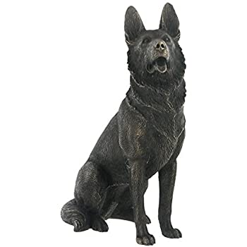 Amazon.com : 'German Shepherd' Cold Cast Bronze Statue