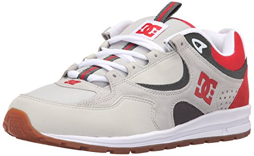 DC Shoes DC Men's Kalis Lite Skate Shoe - Grey/Red/White ...