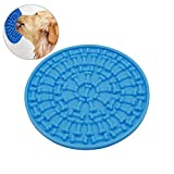 ASOCEA Silicone Pet Dog Lick Pad Slow Feeders Washing Distraction Device Shower Toy with Suction Cup for Bathing Grooming Training