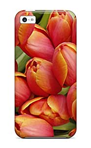 Christmas Gifts 8127925K24613880 First-class Case Cover For Iphone 5c Dual Protection Cover Earth Flower