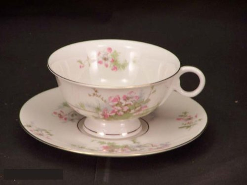 Theodore Haviland Ny Apple Blossom Cups & Saucers