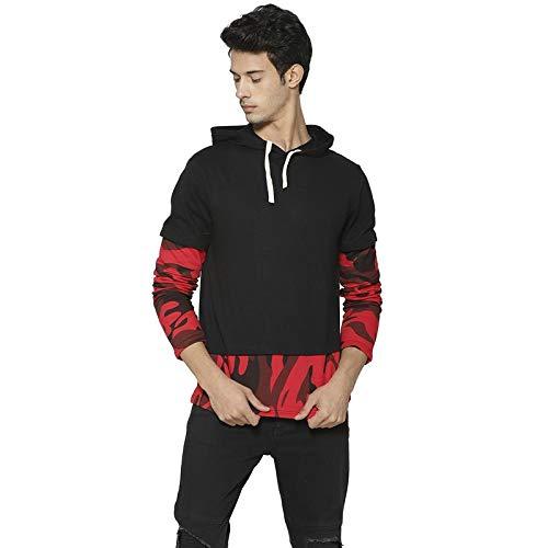 Campus Sutra Full Sleeve Self Design Men Sweatshirt