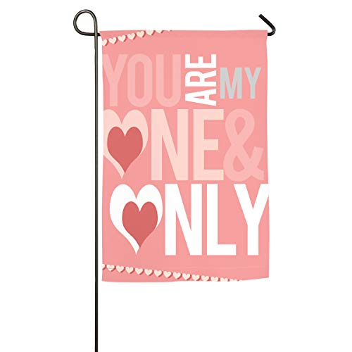 CHILL TEK Valentines-Day-Printable One Sided Polyester Garden Flag Weather Resistant Material Seasonal Spring Summer Outdoor Funny Decorative Flags for Garden Yard Lawn Gift for Children -