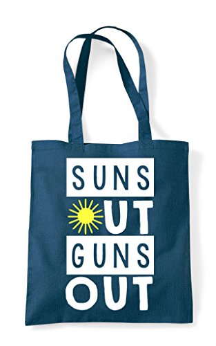 Tote Suns Bag Shopper Summer Workout Statement Petrol Guns Out 7ryHrFvaX