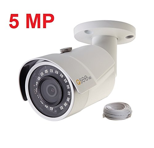 Q-see Surveillance Video - Q-See 5MP HD QC IP Series QCN8099B Security Camera with Color Night Vision and H.265