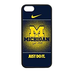 Umich Michigan Wolverines NCAA Iphone 5 5S TPU Cover Case Nike Just Do It Case