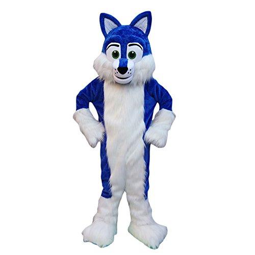 CostumeShine Adult Blue Husky Dog Mascot Costume Uniform Fancy Outfit -