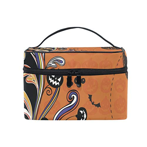 OREZI Halloween Poster Cosmetic Bag Large Multifunction Makeup Travel Toiletry Travel Kit Organizer Case with Quality Zipper Portable for Makeup Bag for Women ()