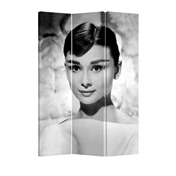 Fine Asianliving Room Divider Paravent Folding Screen Audrey Hepburn