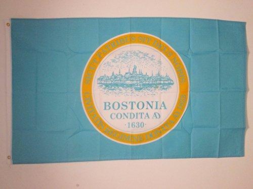 AZ FLAG Boston City Flag 3' x 5' - Massachusetts - USA Flags 90 x 150 cm - Banner 3x5 ft