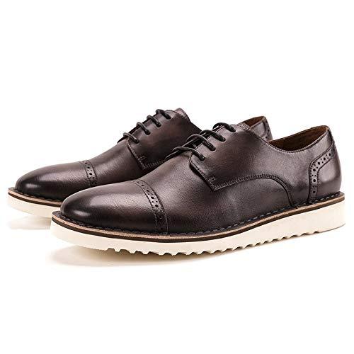 Para Zhuxin 40 Black Genuino Casuales Size Zapatos Bullock Hombres Oxford color Cuero eu Brass A Ocasionales Cordones Con Mano De Hechos nFfORxqnw