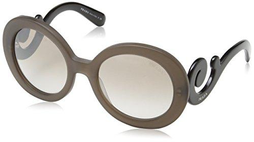 Prada PR27NS UBU4O0 Sunglasses Dark Brown Mat Trasp - For Men Prada Shades