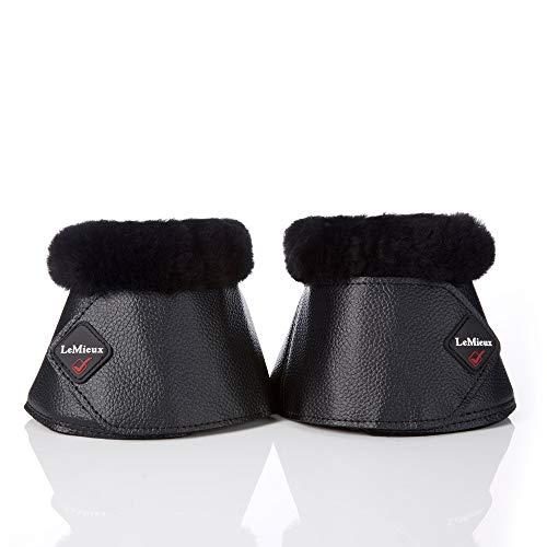 LeMieux WrapRound Lambskin Over-Reach Boots - Black/Black - XXL
