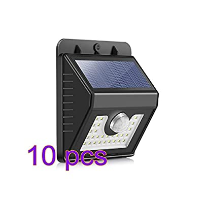DDSKY 30 LED Solar Wall Lights, Solar Lights Outdoor Motion Sensor Waterproof Home Security Lights for Pathway Garden Pool Walkway Driveway, 3 Lighting Modes, 120°Motion Angle, 6000K, 400LM