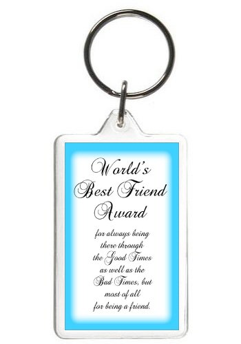 Amazon Com Worlds Best Friend Keychain Funny Words Quotes Key Tag