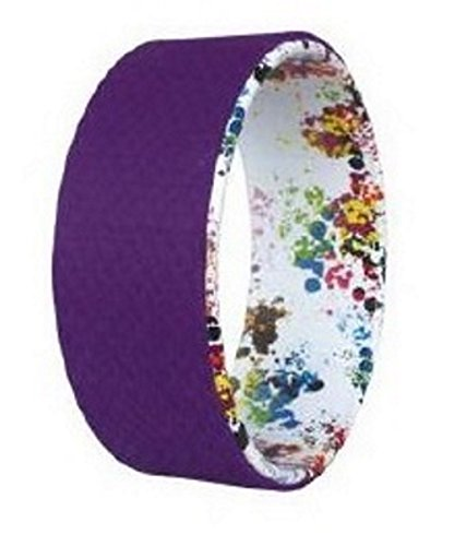 Natures Own Oils Yoga Wheel Floral with Purple Padding