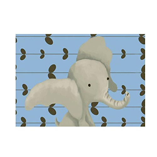 Oopsy Daisy Edison The Elephant Canvas Wall Art, Sky Blue, 24 x 18'' by Oopsy Daisy
