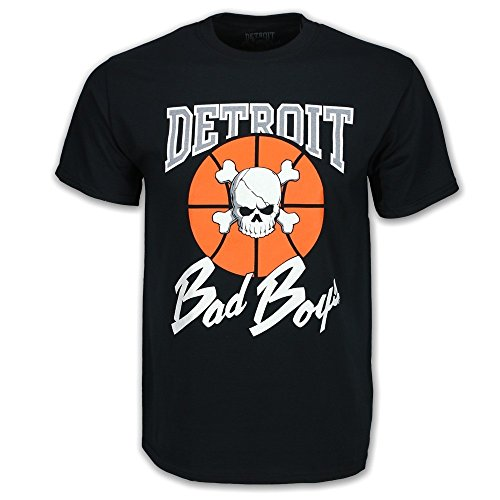 (Detroit Pistons Bad Boys T-Shirt, Black, Large)