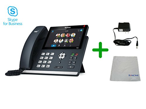 Yealink T48S Skype for Business SIP POE Phone, Power Supply with Microfiber Cloth| Requires VoIP Service | #YEA-T48S-SFB-PS5V2000US