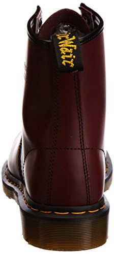 Dr Martens Eyelet Boots Unisex Mens 1460 Womens Leather 8 Red Cheery rrqZdawz