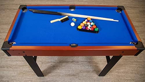 Hathaway BG1131M Triad 3-in-1 48-in Multi Game Table with Pool, Glide Hockey, and Table Tennis for Family Game Rooms