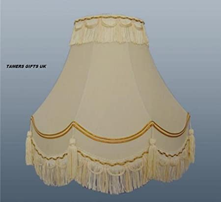 14traditional fully lined creamgold table lamp shade amazon 14quottraditional fully lined creamgold table lamp shade mozeypictures Choice Image