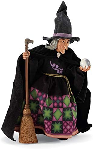 Department 56 Possible Dreams Jim Shore Halloween Witch s Crystal Ball Figurine, 20 Inch, Multicolor