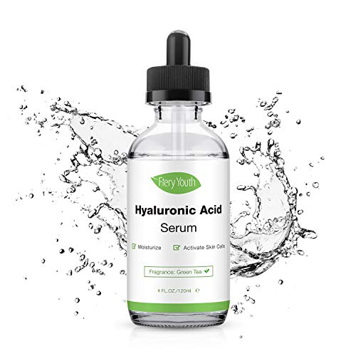 Hyaluronic Acid Serum - Pure Hyaluronic Acid Organic Hydrating Serum for Face and Anti Aging Serum Give You Hydration,Moisture,Non-greasy & Smooth Skin(4 OZ)