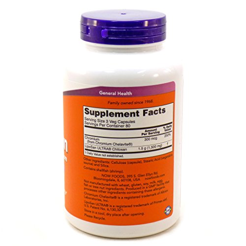 NOW Foods Chitosan 500mg, 240 Caps