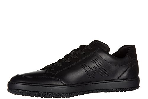 Hogan chaussures baskets sneakers homme en cuir h168 low top h forata noir