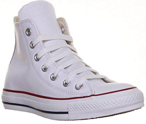 Converse Chuck Taylor Core Lea Hi, Sneaker Unisex Adulto, bianco (bianco), 36