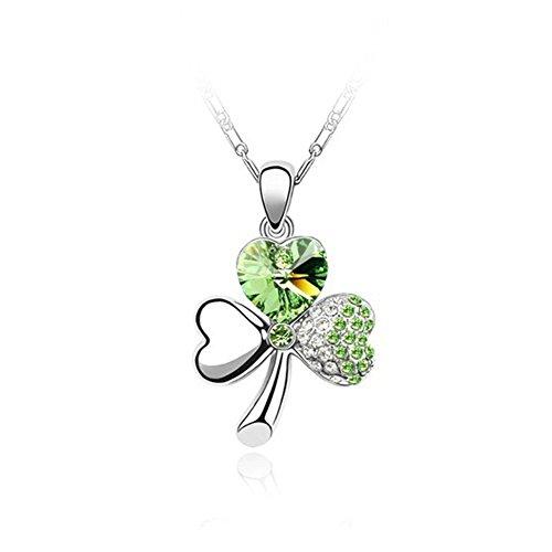 Leaf Clover Shamrock Necklace Pendant - 5