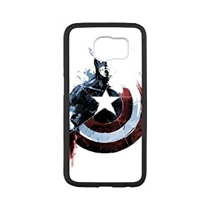 Captain Americ Samsung Galaxy S6 Cell Phone Case Black Exquisite designs Phone Case KM61J659