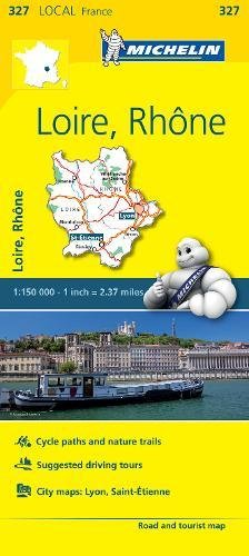 Loire, Rhone - Michelin Local Map 327 (Mapas Local Michelin)