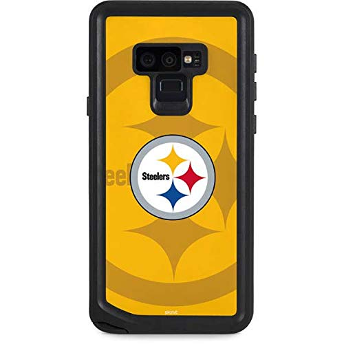 (Skinit NFL Pittsburgh Steelers Galaxy Note 9 Waterproof Case - Pittsburgh Steelers Double Vision Design - Sweat-Proof, Snow-Proof, Dirt-Proof, Dust-Proof Phone Cover)