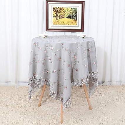Manteles de ropa de cama de algodón de color sólido, manteles de mesa de té rectangulares simples Mantel antiarrugas de mesa redonda para café en bodas o mesa de jardín-o 120x160 cm (47x63 pulgadas)