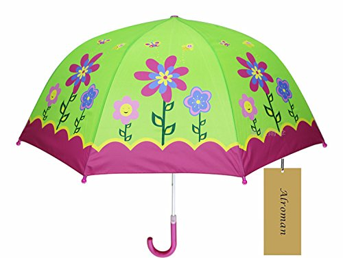 Child Umbrella Girls Waterproof Umbrellas with Cartoon Pa...