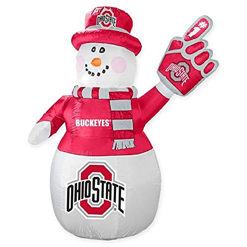 Boelter Brands NCAA Ohio State Buckeyes Inflatable Snowman, ()