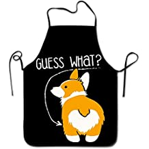 Love Corgi Butt Dog Home Kitchen Apron BBQ Kitchen Cooking Bib Apron For Women Men