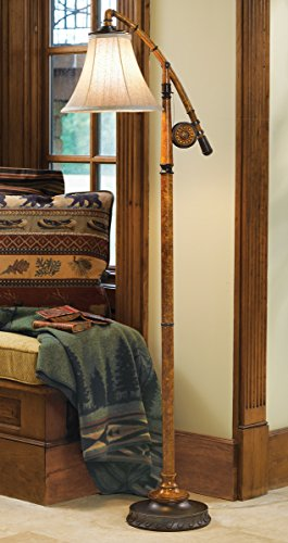 BLACK FOREST DECOR Fishing Pole Rustic Floor Lamp - Wilderness Light Fixtures