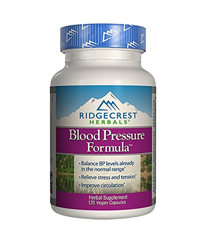 Ridgecrest Herbals Blood Pressure Formula, Herbal Support, 120 Vegan Capsules