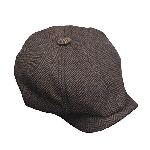 Fenical Gorra de Boina de Invierno para Hombres Sombrero de Protector Solar  para Vendedor de periódicos 563ca898694