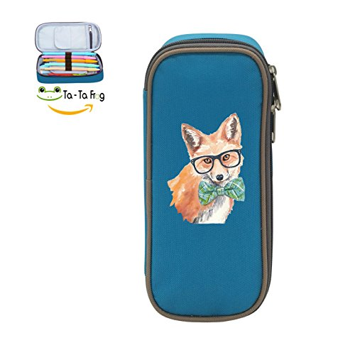 Mybox Watercolor Fox With Sunglass Cube Pen Case Pencil Box Soft Canvas Student Stationery Office - Cube Sunglasses
